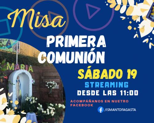 Invitación Misa Primera Comunión