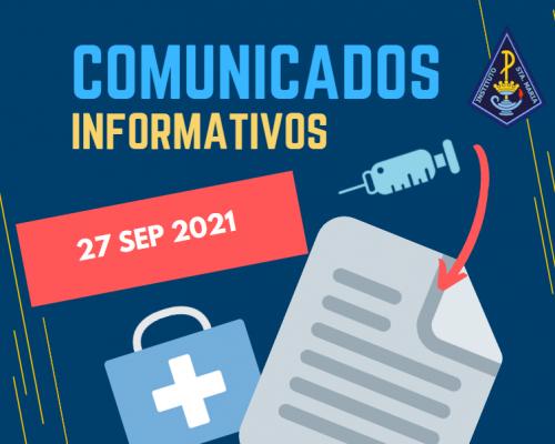 UPDATE: COMUNICADO VACUNACIÓN 28/09