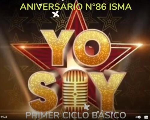 YO SOY I° CICLO - ANIVESARIO 86° ISMA
